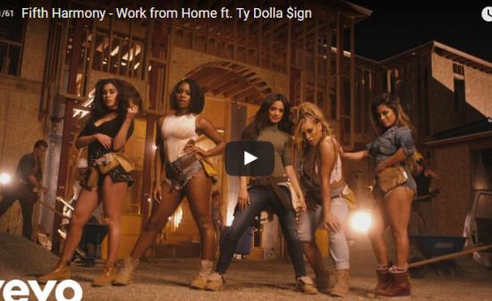 【ダンス】 16億万回再生!Fifth HarmonyのWork from Homeでコラボしがクールに歌い踊る!