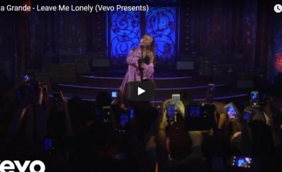 【歌】620万回再生!Ariana GrandeのLeave Me Lonelyのライブが静かに心に届く歌!