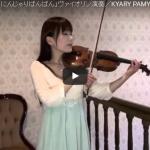 【演奏】60万回再生!全豪No.1ヴァイオリニストが弾くきゃりーぱみゅぱみゅの曲が話題に!