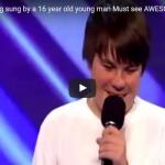 【ソング 】4849万回再生!審査員に胸キュンしてる16歳の男の子の歌が見事なハイトーンで会場を沸かす