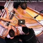 【演奏】541万回再生!世界的ブレイクThe Piano Guysのワン・ダイレクションが美しすぎる音色