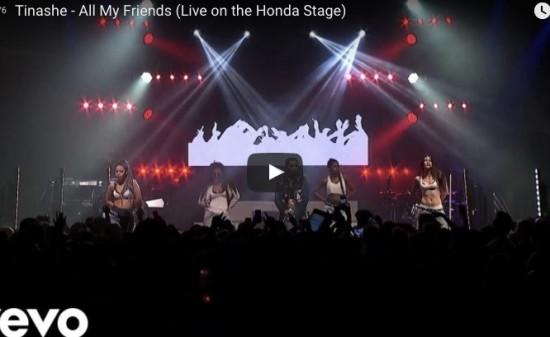 【歌】ティナーシェのAll My Friendsのライブ動画がクールに聞かせてくれるR&Bに観客熱くなる!