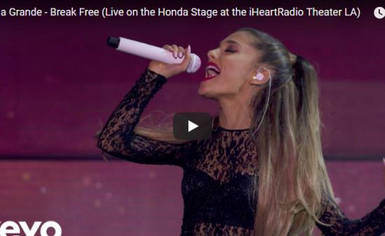 【歌】258万回再生!Ariana GrandeのBreak Freeのライブも見事な歌とダンスで熱狂!