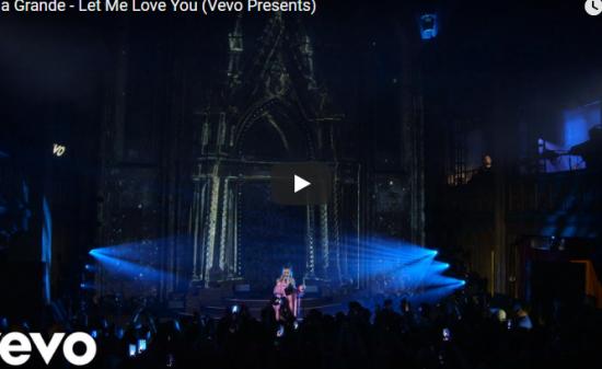 【歌】276万回再生!Ariana GrandeのLet Me Love Youのライブもクールに届け魅了する!