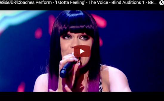 【歌】767万回再生!ジェシーJがThe Voice UKで豪華コラボでI Gotta Feelingで魅了する!
