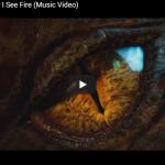 【歌】2.5億万回再生!エド・シーランのホビット 竜に奪われた王国のECのI See Fireが壮大に心響く!