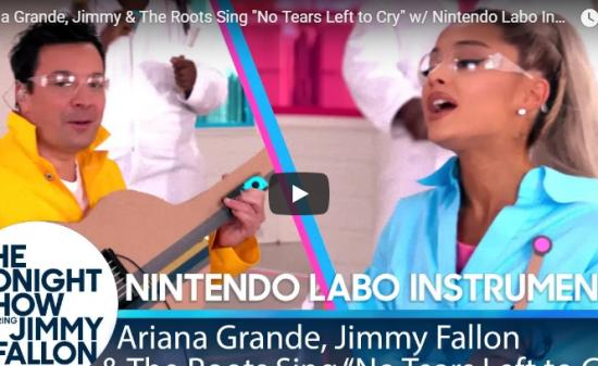 【歌】620万回再生!アリアナ・グランデのNo Tears Left to Cryが才能が交わり最高にいい動画!