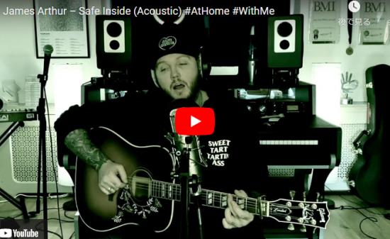 【歌】36万回再生!ジェームズ・アーサーのSafe Insideのライブが静かに惹き込まれる力強い歌!